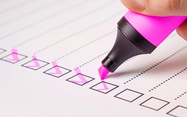 Checkliste Rechnung