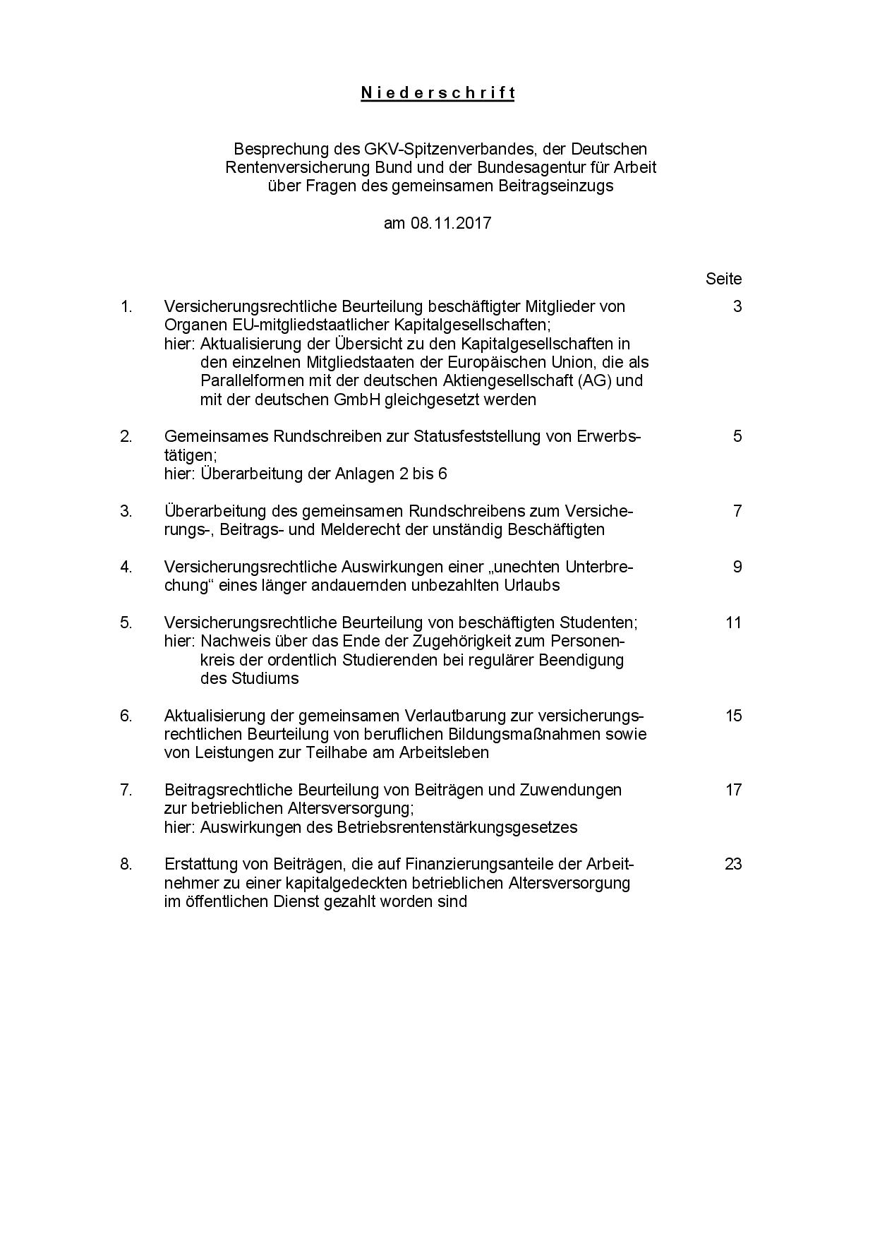 Kriterien für die Beurteilung der Sozialversicherungspflicht von Gesellschafter und Geschäftsführer sowie Statusfeststellung