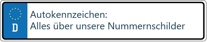 Autokennzeichen: alles über unsere Nummernschilder