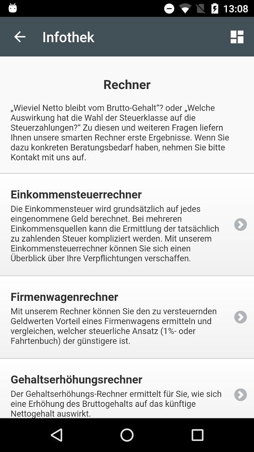 Steuer App - Rechner