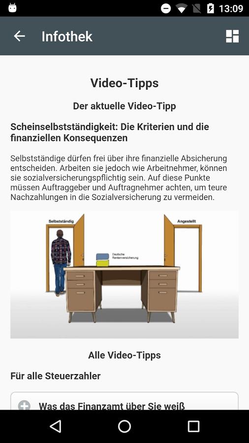 Steuer App - Video-Tipps